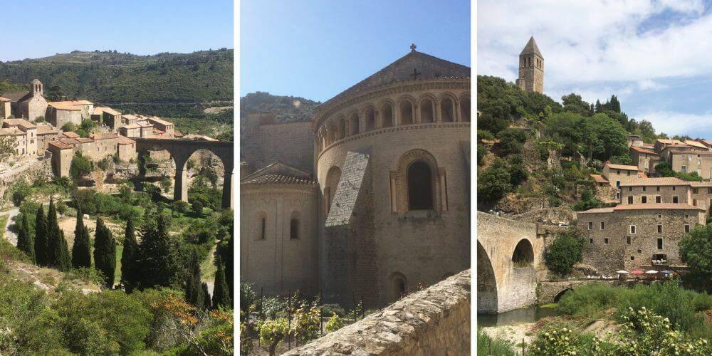 Different villages in Hérault, close to our hotel spa near Pézenas, Château St pierre de Serjac.