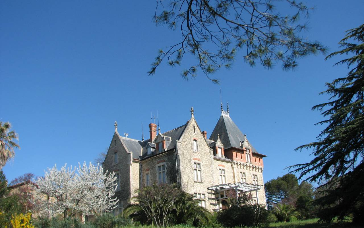 Outside view of our chateau in the South of France, Château de St Pierre de Serjac.