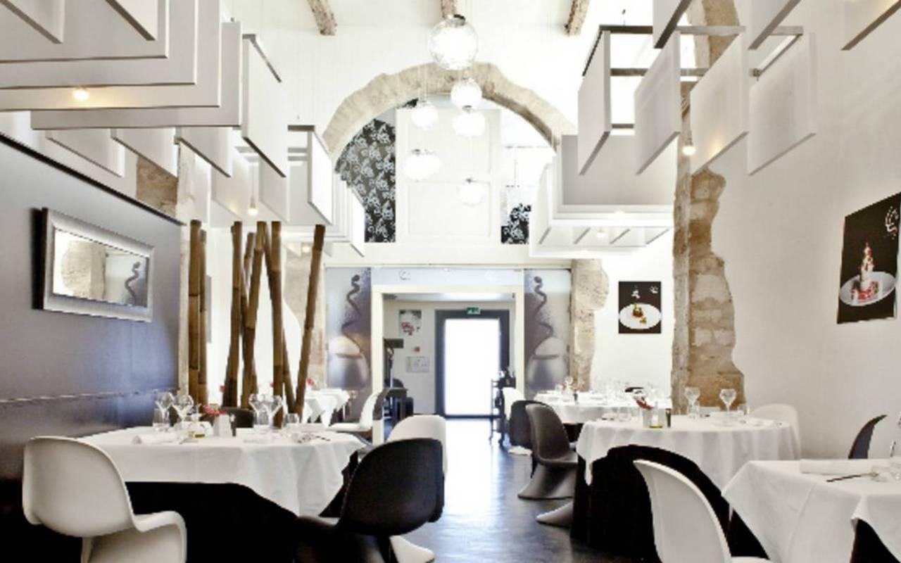 Restaurant La Table de Saint Crescent, close to the Château de Serjac, weekend in the south of France.