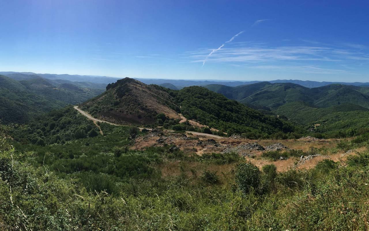 Parc national du Haut Languedoc, close to the Château de Serjac, weekend in the south of France.
